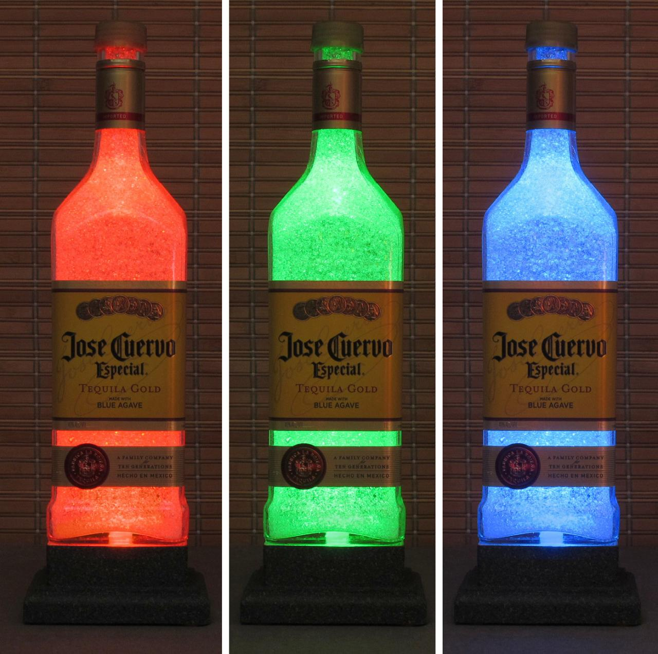 Jose Cuervo Gold Tequila Color Changing LED Remote Controlled Bottle Lamp Light Eco Friendly RGB LED