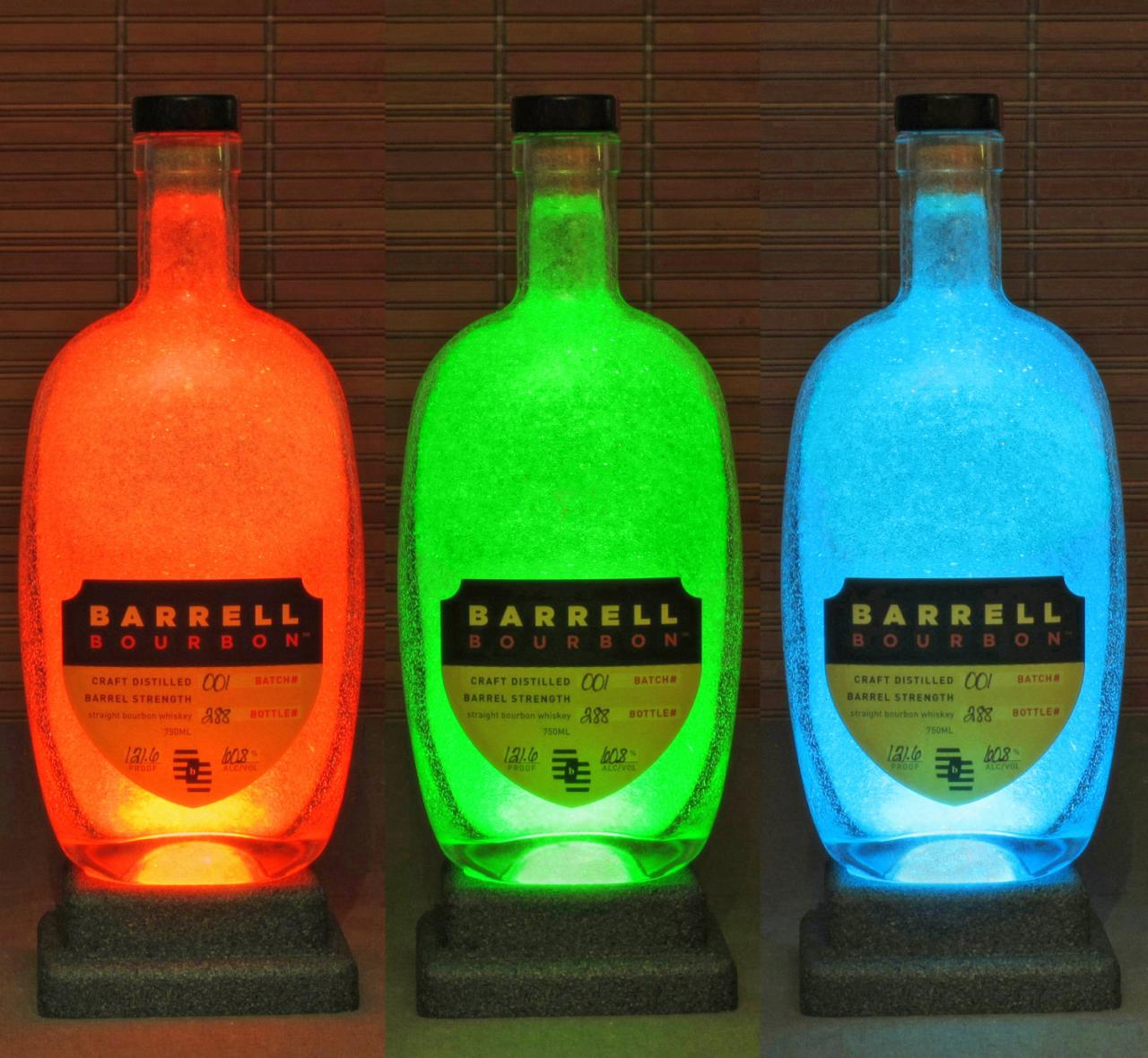 Barrell Bourbon Kentucky Whiskey Color Changing Bottle Lamp Bar Light LED Remote Controlled Eco Friendly LED Bodacious Bottles Fathers Day