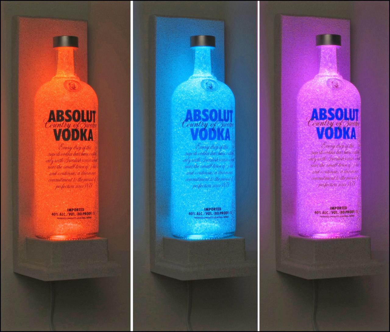 absolut vodka wall mount vodka color changing led remote. Black Bedroom Furniture Sets. Home Design Ideas