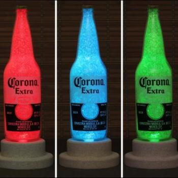 Corona Beer 24oz Bottle Lamp Light Color Changing LED Remote Control LED-Mexico Beer -Bodacious Bottles-