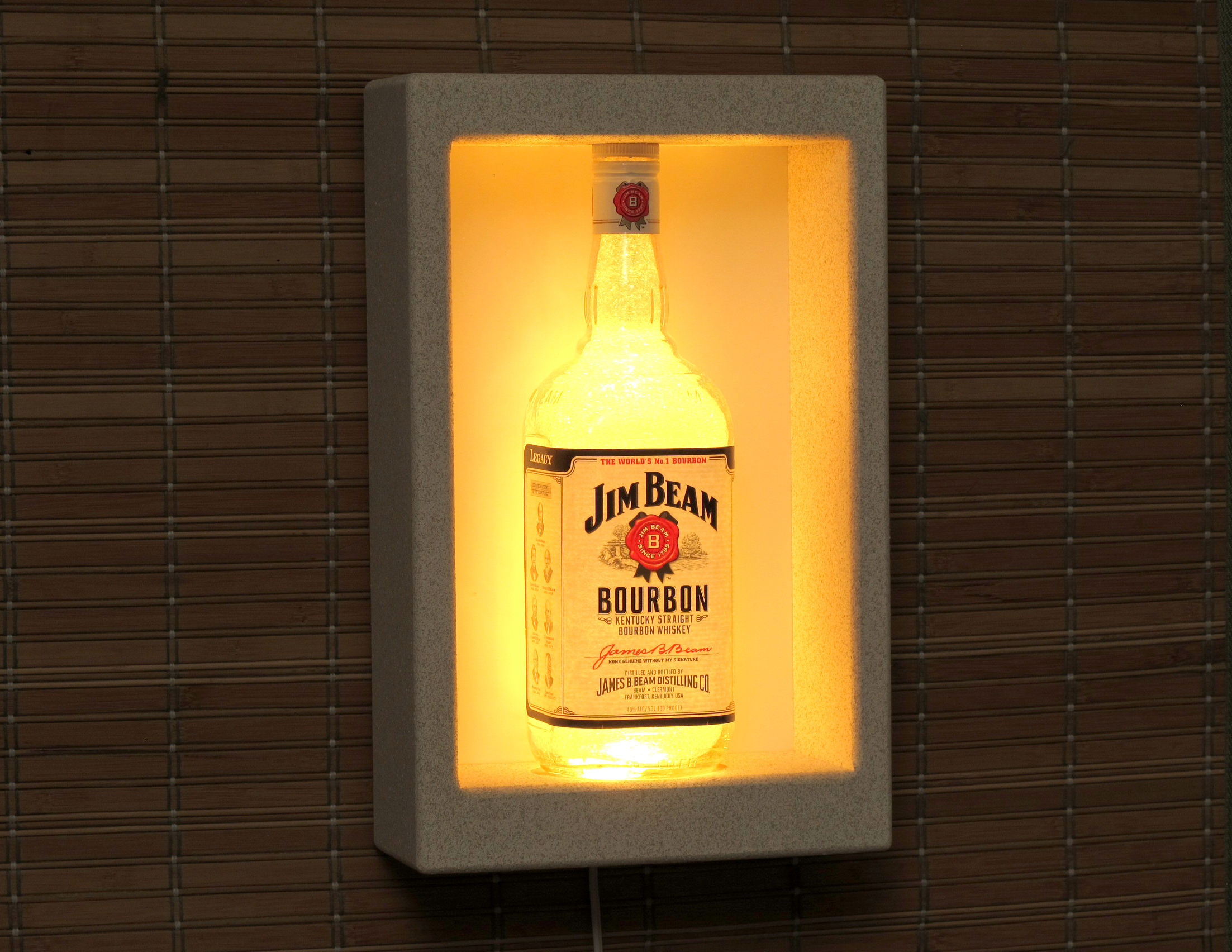 Jim Beam Whiskey Sconce Wall Mount Color Changing LED Lamp Bar Light ...